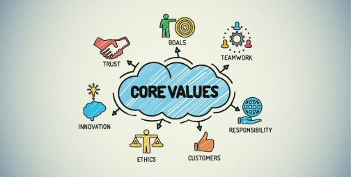 How do you promote core values in your company?